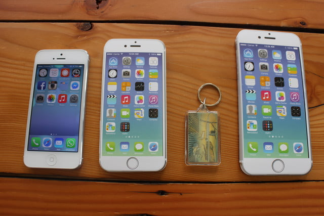 iphone 6 plus size comparison keychain
