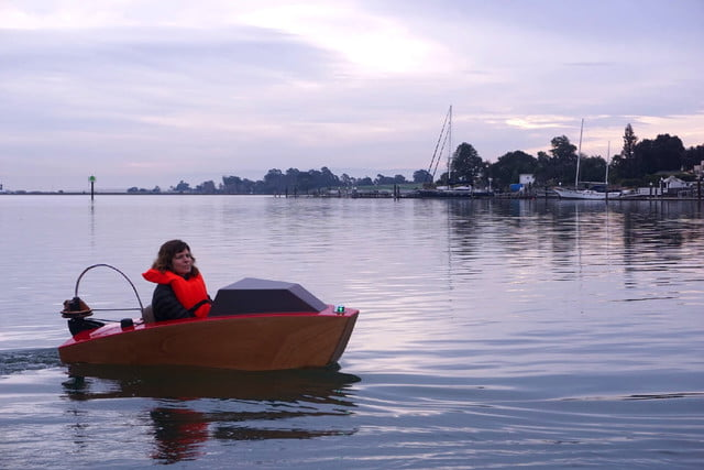electric mini boat kit tulberg laser cut first launch erika turning rapid whale