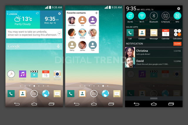 lg g3 homescreen screenshots leak exclusive android