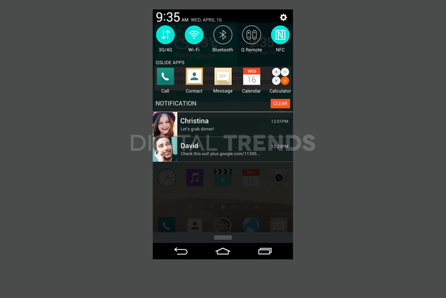 lg g3 homescreen screenshots leak exclusive favorite notifications