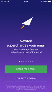 best email apps for the iphone newton ios 1