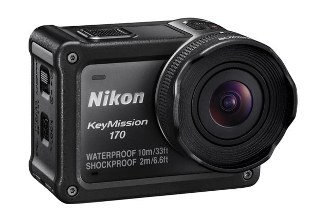 nikon keymission 170 80 action cam front right