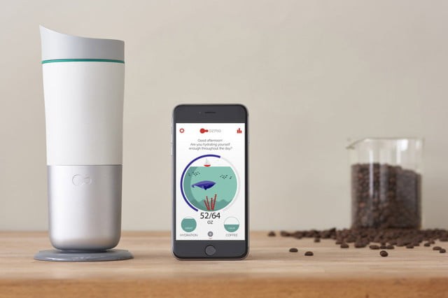 let smart cup ozmo help you stay hydrated and appropriately caffeinated with coffee