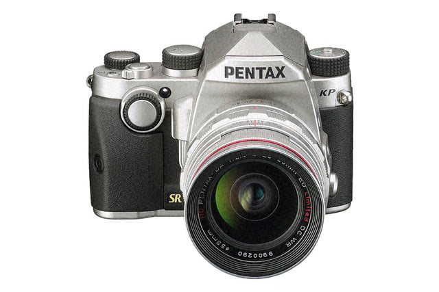 ricoh pentax kp announced silver front