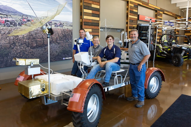 polaris builds lunar rover vehicle replica with indian slingshot and rzr parts lrv team
