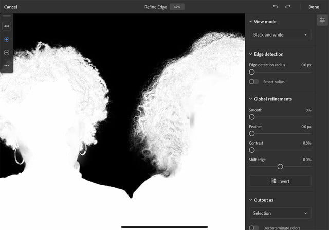 how to use photoshop for ipad refine edge hair2 copy
