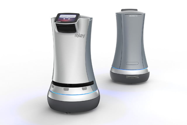 luxury apartment robot butler relay front and back