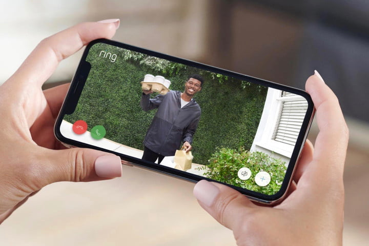 Ring Video Doorbell Wired footage