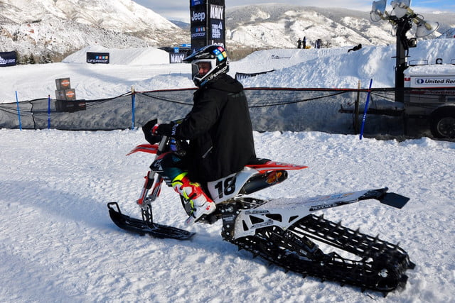 Dirt Bike Snowmobile >> New Event At Winter Xgames Mixes Motocross With Snowmobiles