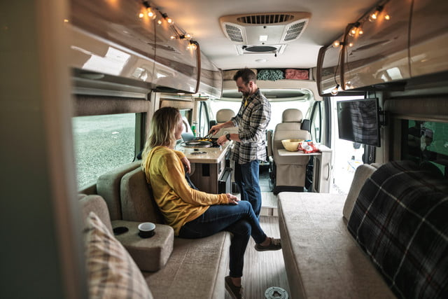 take your tech on the road with thor sequence smart class b rv motorcoach 3