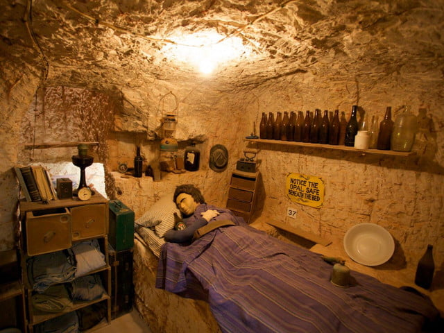 coober pedys residents live in underground dugouts umoona opal mine and museum 004