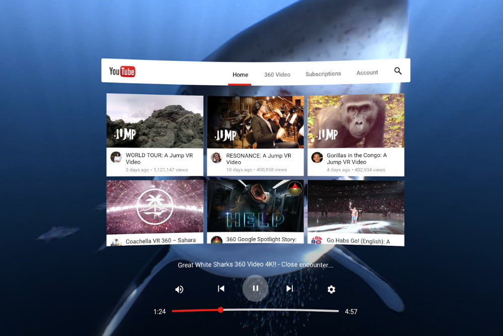 How to Watch YouTube on a Gear VR (or Hulu, or Netflix, and