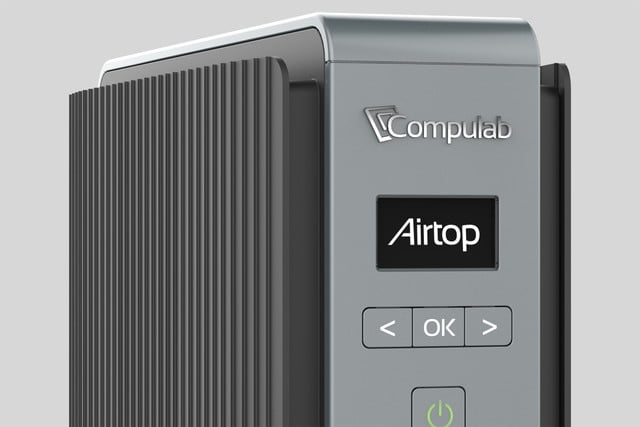 compulab airtop computer zoom in on front panel