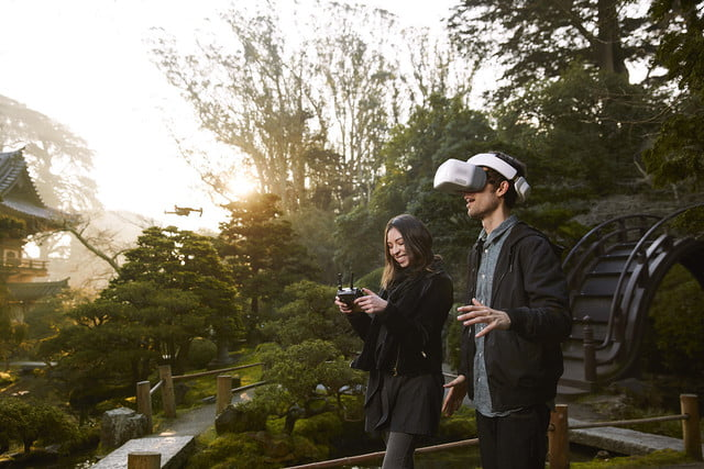 dji goggles launched  flying with friend 1