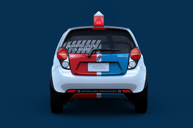 dominos innovative dxp chevrolet spark pizza delivery car 6