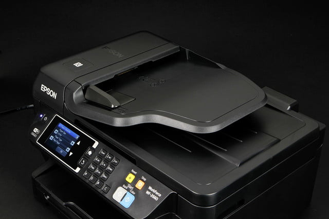 Epson WF-2660 scanner bed closed