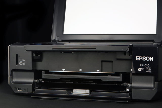 EPSON XP 610 front scanner bed open