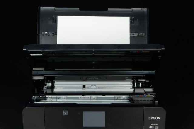 Epson XP-950 printer scanner and ink slots open