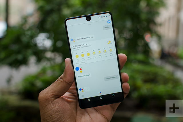 Essential phone review weather