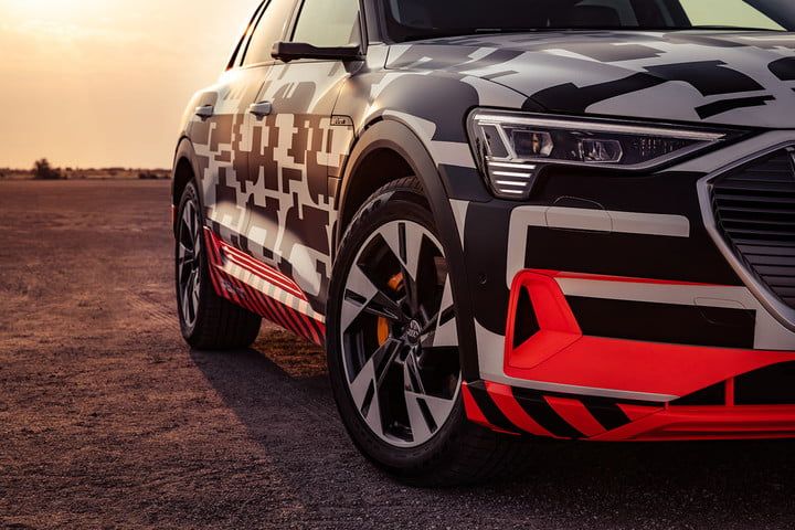 2019 audi e tron prototype driving impressions etron extreme power play front right close