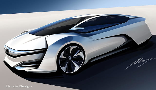 honda reveals fcev concept showing theres plan give fuel cell technology  sketch front