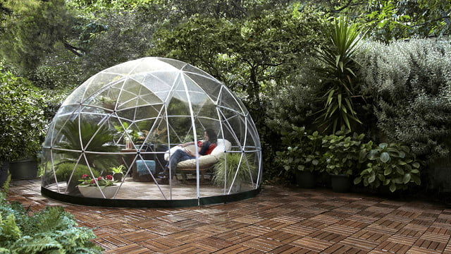 the garden igloo is a geodesic dome for your lawn 003
