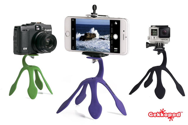you can mount a camera or phone onto almost anything with the gekkopod 1