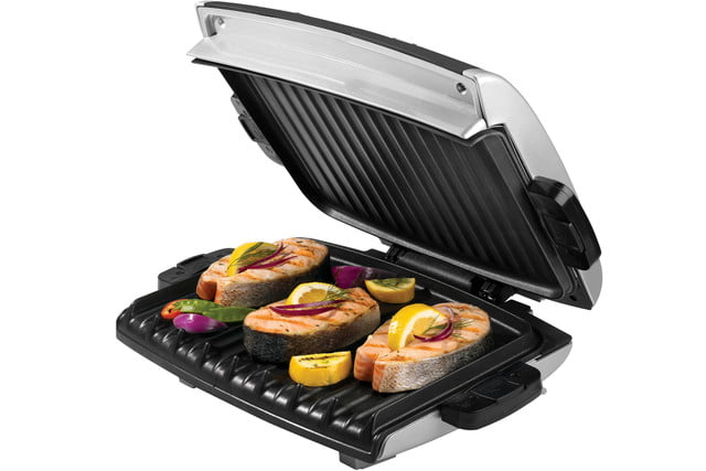 walmart deals on george foreman electric grills and griddles 6 serving removable plate grill panini press 2