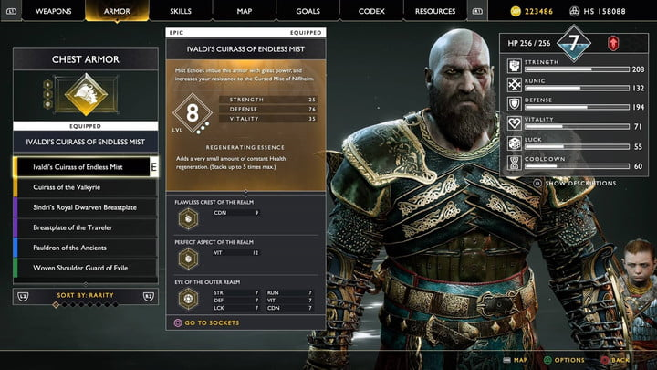 god of war valkyries guide high level equipment