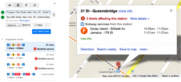 Google Subway Map Nyc.Google Maps Transit Now Includes Planned Nyc Subway Disruptions