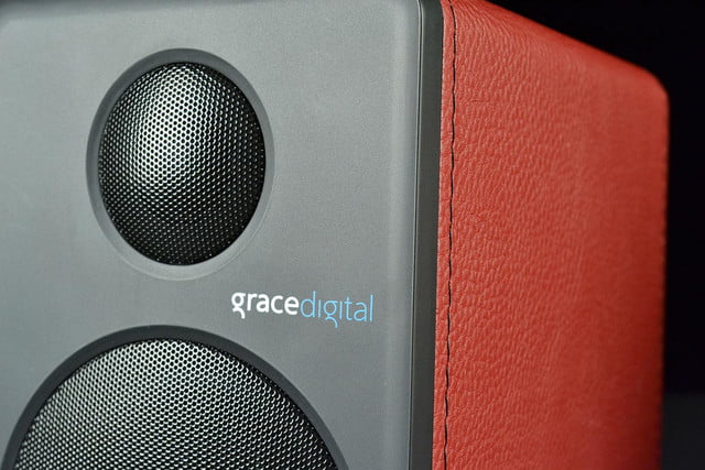 grace digital GDI BTSP207 Bluetooth speakers front macro