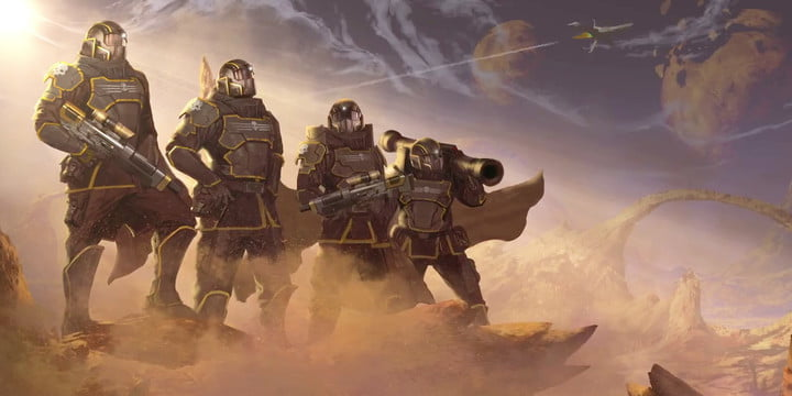 helldivers nom galaxy free on ps plus في فبراير playstation four ps4 dual joystick shooter