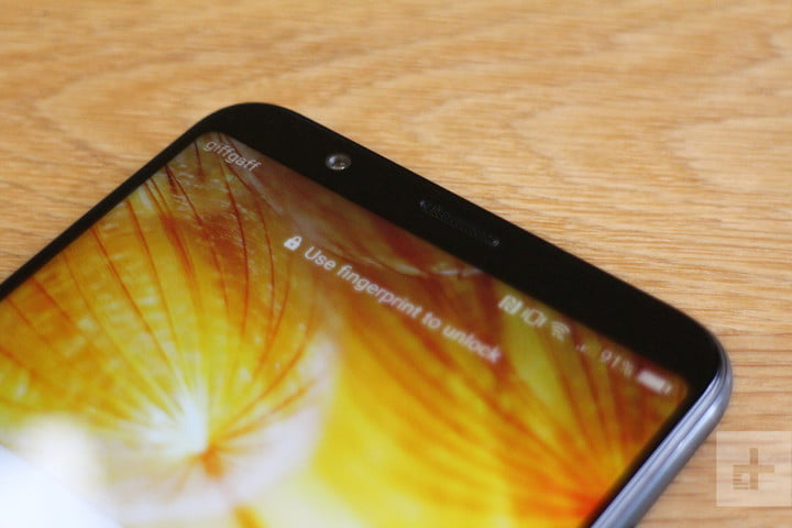 Honor View 10 review top angle