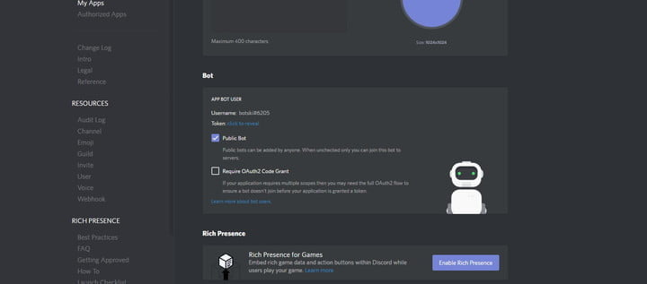how to make a discord bot bot box
