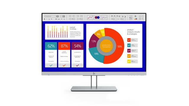 hp launches new monitors and all in one ces 2019 elitedisplay e243p sure view monitor front