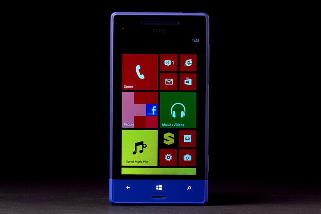HTC 8XT front home screen
