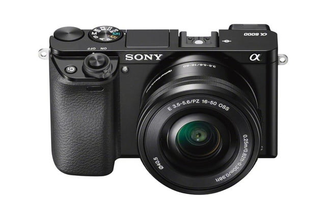 sony unveils alpha a6000 mirrorless camera ilce 6000 wselp1650 front top black 1200