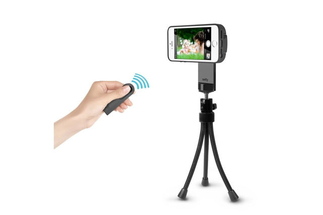 iluv smartphone case with built in remote shutter designed for the selfie obsessed selfy tripod