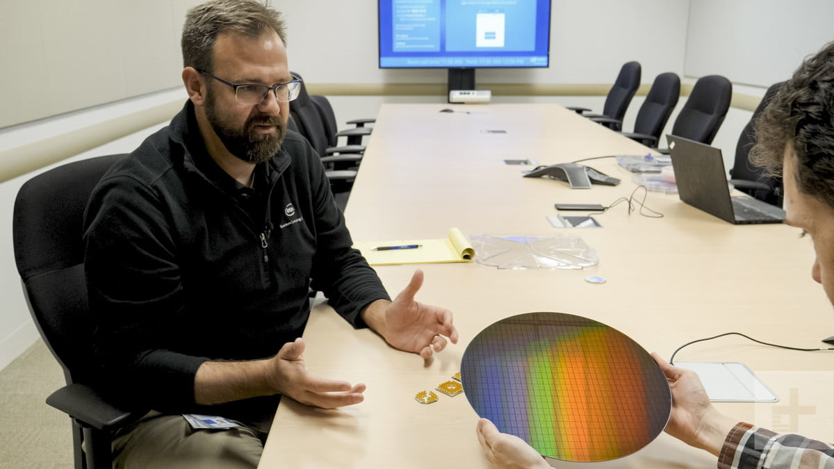 Intel Quantum Computing Holding Wafer