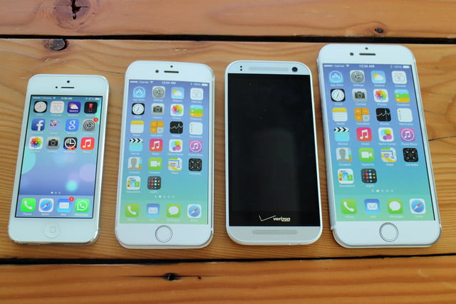 iPhone 5, iPhone 6, HTC One Remix, and iPhone 6 Plus