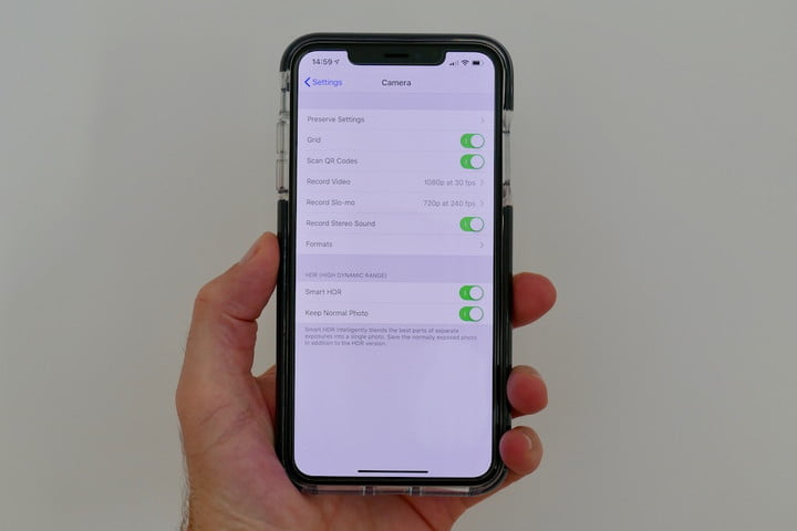 iphone xs max camera guide settings
