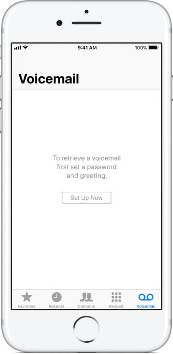 iPhone Voicemail setup