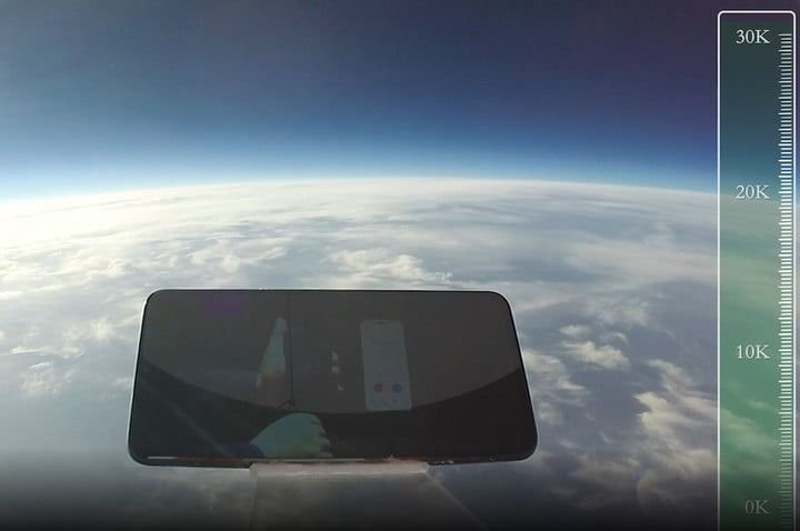 Smartphone survives the ultimate drop test from an astonishing 103,000 feet