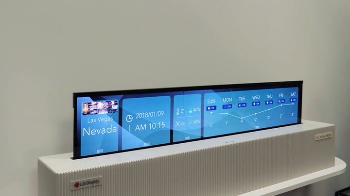 lg 65 inch rollable uhd oled ces video 4