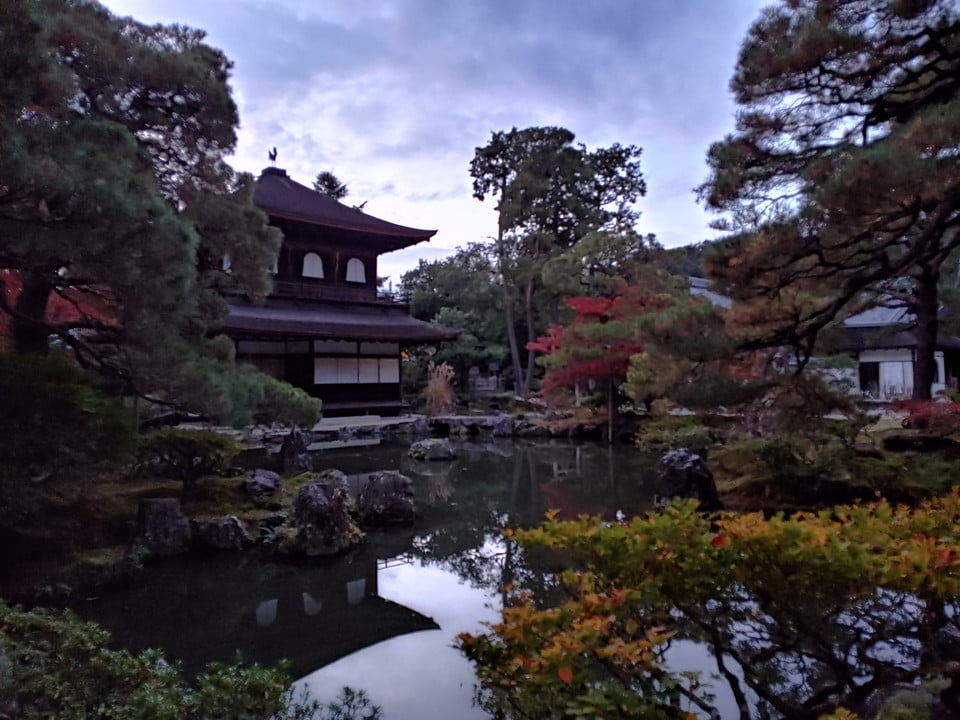 LG V40 ThinQ Evening Kyoto temple at dusk