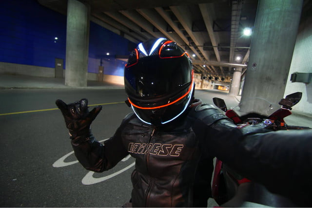 lightmode helmet light kits worn wicked selfie