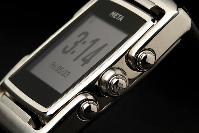 META Watch right side dials