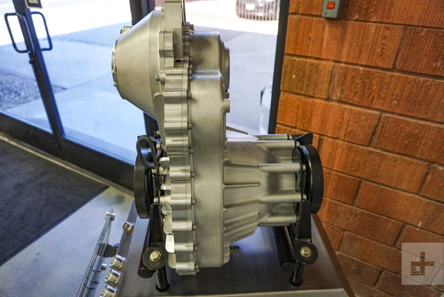 A piece of an engine designed by Motivo Engineering on display