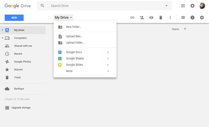 how to use google drive my new