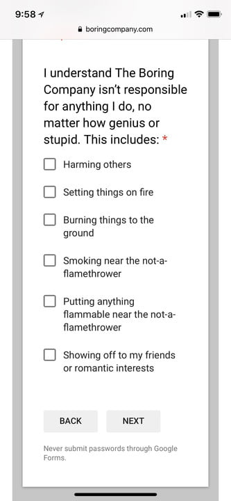 not a flamethrower terms and conditions naft3